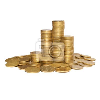 Kolumna złotych monet