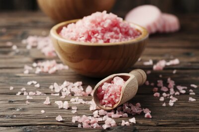 Obraz Koncepcja leczenia uzdrowiskowego z różowej soli