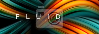 Obraz Koncepcja płynnego ruchu kolorów