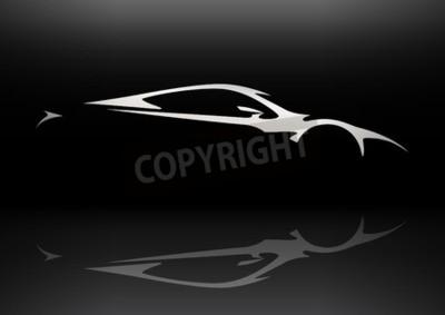 Obraz Koncepcja pojazdu sportowy sylwetka 06