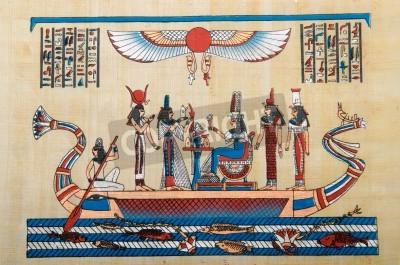 Obraz Koncepcja z papirus egipski Historia