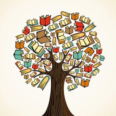 Obraz Koncepcji drzewa Edukacja z książkami