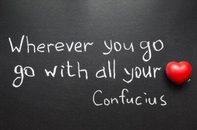 Obraz Konfucjusz cytatem