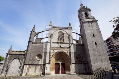 Kościół Santa Maria w mieście Lekeitio, Hiszpania