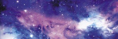 Obraz Kosmos baner z gwiazdami
