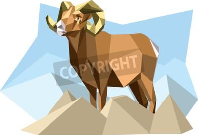 Obraz Koza w stylu kubizmu