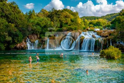 Obraz KRKA Waterfalls, krka national park Croatia