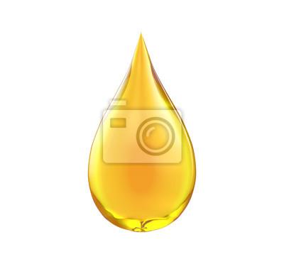 Obraz Kropla oleju izolować na białym tle