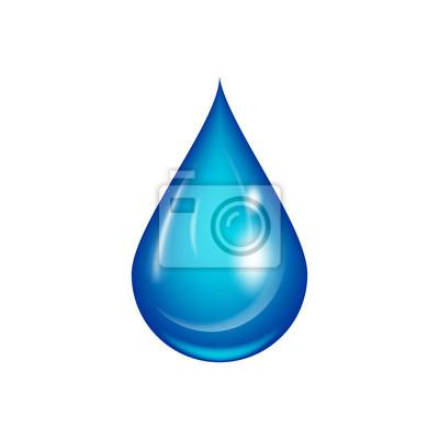 Obraz Kropla wody ilustracji wektorowych.
