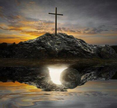 Obraz Krzyż i pusty grób