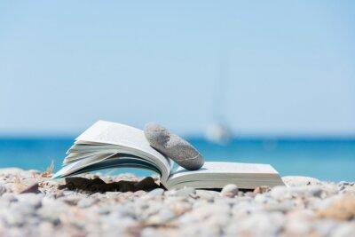 Obraz Książka na plaży