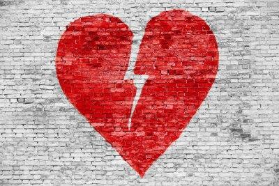 Obraz Kształt złamanego serca