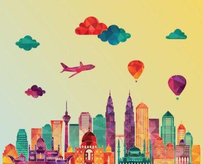 Obraz Kuala Lumpur skyline. ilustracji wektorowych