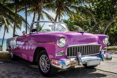 Obraz Kuba Varadero Oldtimer parkt w pobliżu Nazwa vom Strand