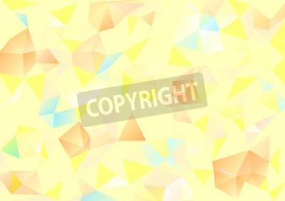 Obraz Kubizm tle Blado żółty i pomarańczowy niebieski