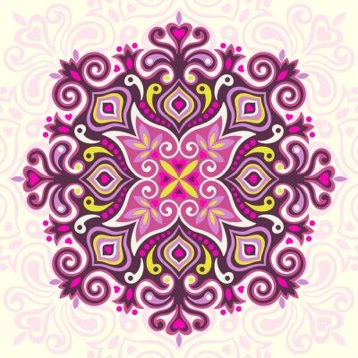 Obraz Kwiat Mandala. Streszczenie element projektu