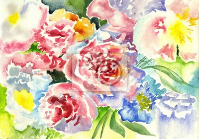 Kwiaty akwarelowe, streszczenia art