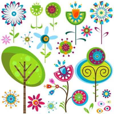 Obraz kwiaty fantazją