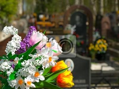 Kwiaty i cmentarz