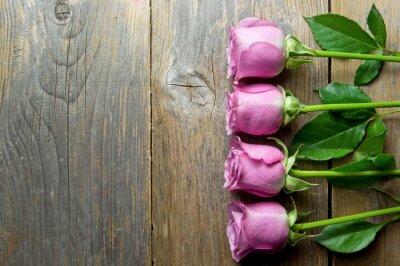 Obraz Kwiaty na drewnianych backround z miejscem na tekst