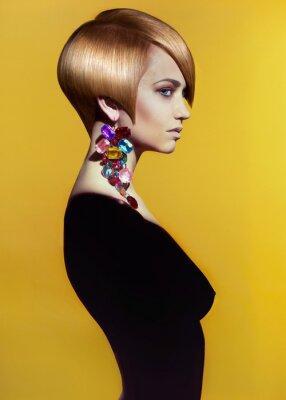 Obraz Lady w stylowe fryzury