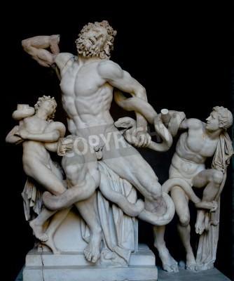 Obraz Laokoona i jego synów, słynny klasyczny grecki posąg