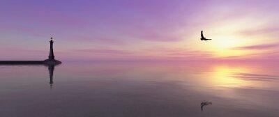 Obraz Latarnia morska na wybrzeżu