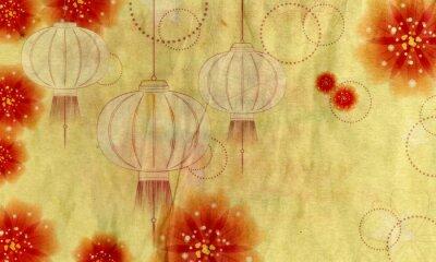 Obraz Latarnia Papier z kwiatów