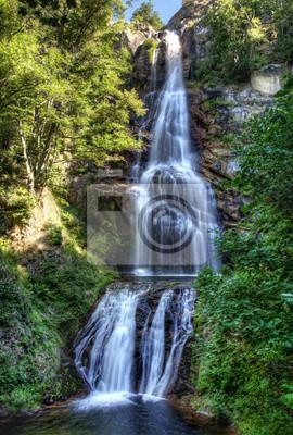 Obraz Les cascades de Runes - Montvert en Lozere - Francja