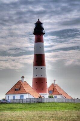 Obraz Leuchtturm Westerheversand w Westerhever