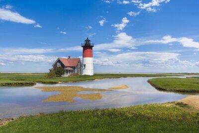 Obraz Light house on Cape Cod, MA. USA