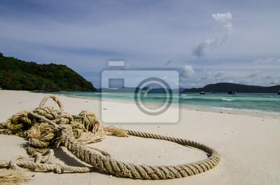 liny na plaży