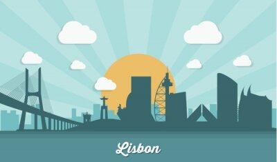 Obraz Lisbon skyline - płaska