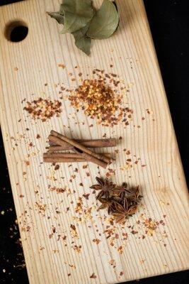 Obraz liść laurowy, przyprawy