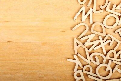 Obraz Litery i cyfry