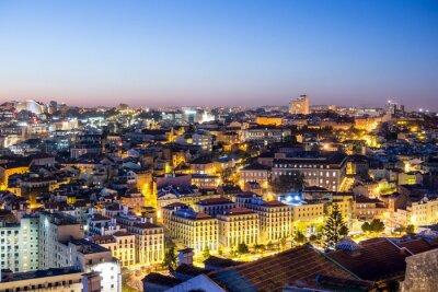 Obraz Lizbona in der dämmerung