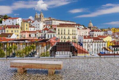 Obraz Lizbona miasta - tradycyjna architektura, dzielnica Alfama, Lizbona, Portugalia.