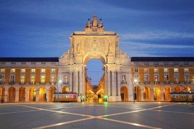 Obraz Lizbona. Obraz Łuk Triumfalny w Lizbonie, Portugalia.