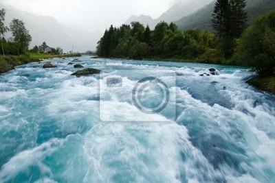 Obraz Lodowiec rzeka