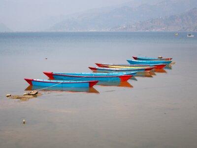 Obraz Łodzie na jeziorze Fewa