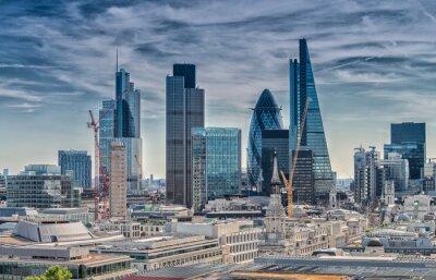 Obraz London City. Modern skyline of business district