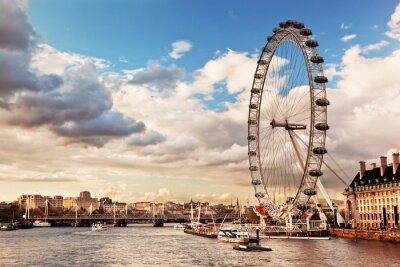 Obraz Londyn skyline UK. Tamiza