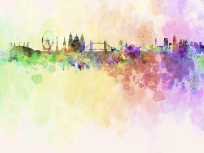 Obraz Londyn skyline w akwarela