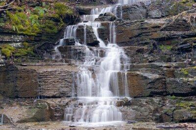 Obraz Long exposure of cascade