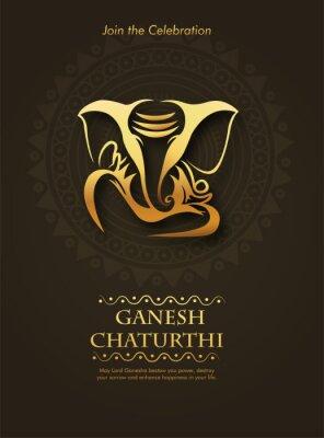 Obraz Lord Ganesha , Ganesh festival illustration of Lord Ganpati background for Ganesh Chaturthi festival of India