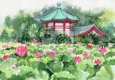 Lotus jezioro i Pagoda