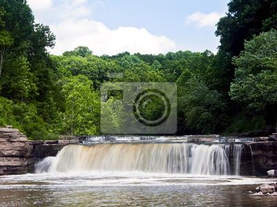 Lower Cataract Falls w lecie, Indiana