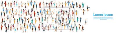 Obraz Ludzie Grupa Different Zawód Set, Pracownicy Pracownicy Mix Race Ilustracja Wektor Banner Flat