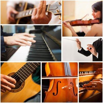 Obraz Ludzie odtwarzanie instrument muzyczny