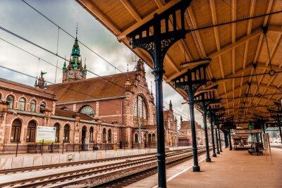 Obraz Main station of Gdansk